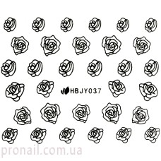 Nail Art Stickers 037 Black