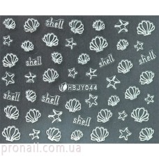 Nail Art Stickers 044 Silver