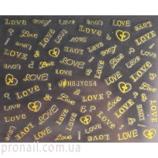 Nail Art Stickers 054 Gold