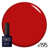 Гель-лак NUB OLD SCHOOL RED 195